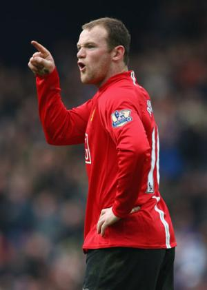 Rooney swearing at someone, again.